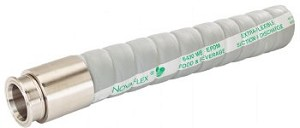 "Novaflex 6403 1.5"" ID Hose with Tri-Clamp Sanitary Ends (UHMW Tube Food Suction & Discharge Hose)"