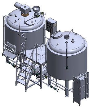 10 BBL 2 Vessel Brewhouse