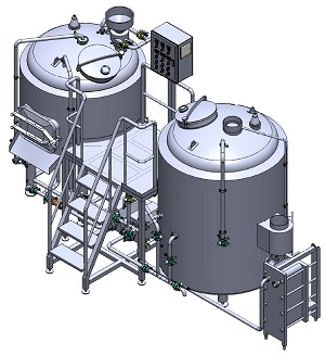 7 BBL 2 Vessel Brewhouse Direct Fired