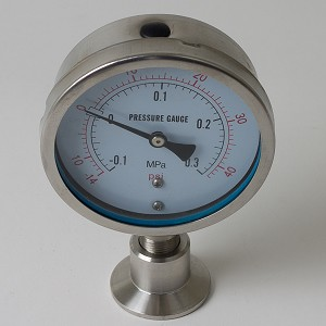 "1.5"" Tri-Clamp Pressure Gauge 0-87 PSI"