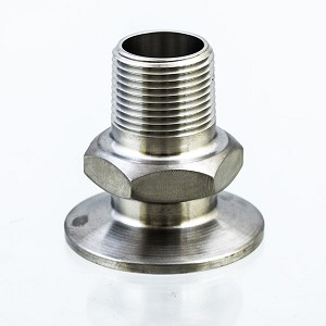 "1.5"" Tri-Clamp to 3/4"" Male NPT"